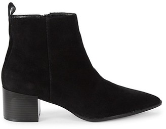 Saks Fifth Avenue Emerson Suede Leather Croco Chelsea Boots