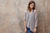 Charli Dempsey Linen Sweater in Pebble