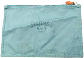 Hermes Blue Cotton Clutch bags