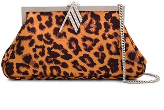 The Attico Leopard-Print Clutch