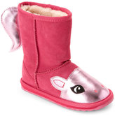 Emu Kids Girls) Hot Pink Pony Pull-On Boots