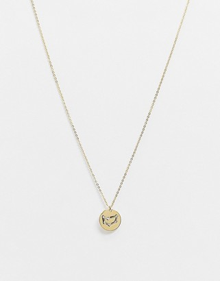 Accessorize Z for Capricorn star sign engraved necklace in gold plate