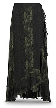 AllSaints Cosmo Masala Printed Wrap Skirt