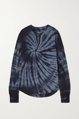 Splits59 Warm Up Tie-dyed Stretch-modal Sweatshirt - Navy