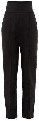 Alexandre Vauthier High-rise Pique Tailored Trousers - Black