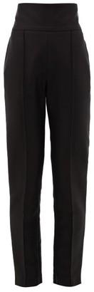 Alexandre Vauthier High-rise Pique Tailored Trousers - Womens - Black
