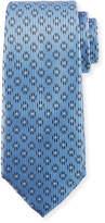 Ermenegildo Zegna Dot in Circle Silk Tie, Blue