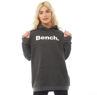Bench Womens Trademark Oversized Hoodie Charcoal Marl