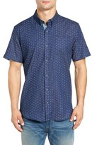 7 Diamonds Men's 'The Sound' Trim Fit Print Woven Shirt