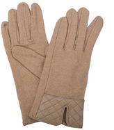 Condura NEW Wool Mix Quilted Cuff Gloves Beige