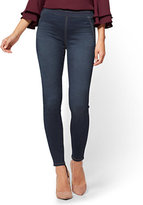 New York & Co. Soho Jeans - High-Waist Pull-On Legging - Patch Blue Wash - Petite
