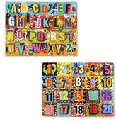 Melissa & Doug Toddler Chunky Wooden Letter And Number Puzzles
