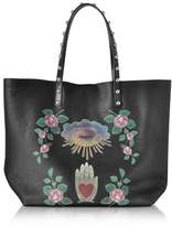 RED Valentino Leather Tote W/ Shearling Lining.