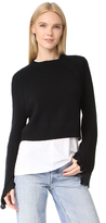 Helmut Lang Cropped Ruffle Sweater