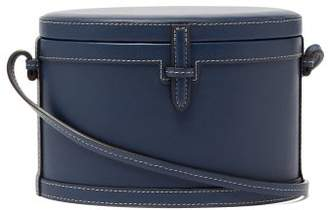 Hunting Season The Round Trunk Leather Cross-body Bag - Womens - Navy