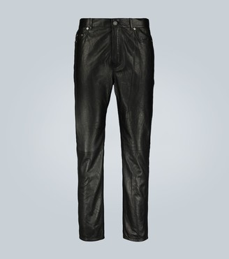 Saint Laurent Straight-cut lamb leather pants