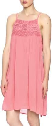 Young Threads Crochet Detail Sleeveless Dress
