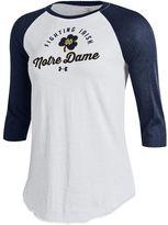Under Armour Women's Notre Dame Fighting Irish Baseball Tee