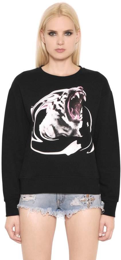 Marcelo Burlon County of Milan Tiger Printed Cotton Sweatshirt