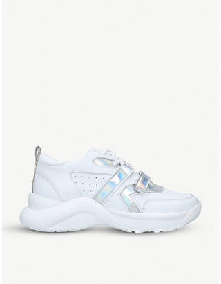 Kurt Geiger London Lex iridescent-detail leather chunky trainers