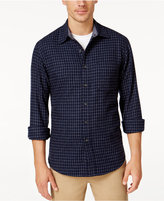 Club Room Men's Big and Tall Long-Sleeve Check Shirt, Only at Macy's