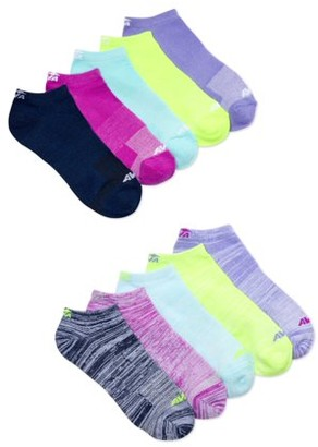 Avia Womens 10Pk Performance Flatknit No Show Socks