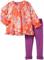 Masala Elsa Indian Floral 2 Piece Set (Baby) - Grenadine-12-18 Months