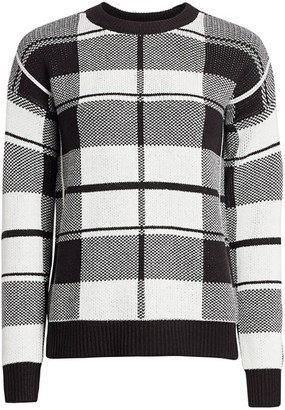 Design History Plaid Knit Sweater