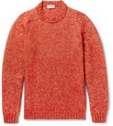 John Smedley Storr Mélange Cotton, Alpaca And Merino Wool-blend Sweater - Orange