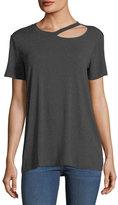 Allen Allen Cutout Crewneck T-Shirt