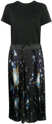 Sacai Pleated Skirt Combo Dress