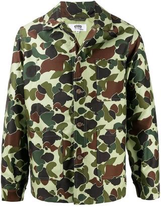 Junya Watanabe Camouflage-Print Shirt Jacket