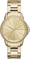 Armani Exchange A|X Women's Gold-Tone Stainless Steel Bracelet Watch 36mm AX4346
