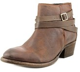 Hudson Horrigan Women Round Toe Suede Tan Bootie.