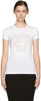 Versace White Studded Medusa T-Shirt