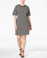 MICHAEL Michael Kors Size Striped T-Shirt Dress