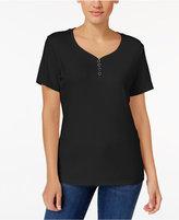 Karen Scott Henley T-Shirt, Only at Macy's