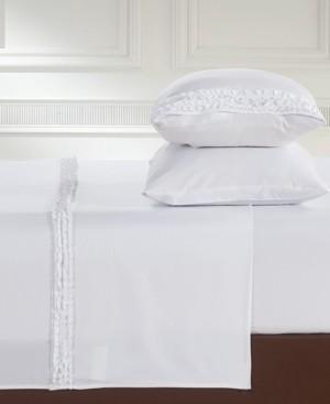 LILY&DAVID Lily & David Bella Shabby Chic Easy Care Ruffled Microfiber Bed Sheet Set, Split King Bedding