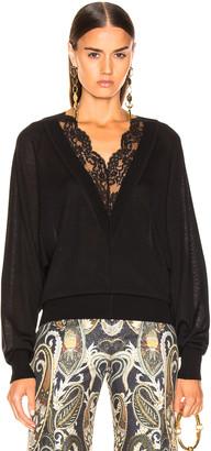 Chloé Lace Sweater in Black   FWRD