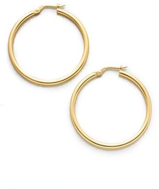 "Roberto Coin 18K Yellow Gold Hoop Earrings/1.4"""