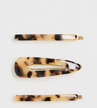 Orelia exclusive resin hair slide & clip pack-Gold