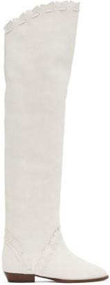 Isabel Marant White Saliza Boots