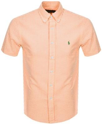 Ralph Lauren Custom Fit Short Sleeve Shirt Orange