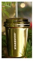 Starbucks 2012 Holiday Ornament Gold Cup
