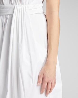 Lela Rose Floral Applique Poplin Shirtdress