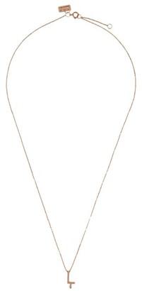 VANRYCKE Rose Gold Alphabet Letter L Necklace