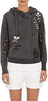 NSF Women's Distressed French Terry Sweatshirt-BLACK