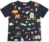 Dolce & Gabbana Drawings Printed Cotton Jersey T-Shirt