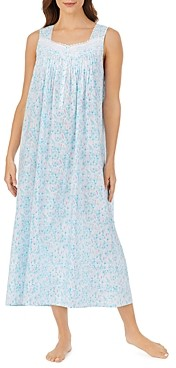 Eileen West Cotton Floral Print Nightgown