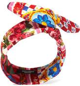 Dolce & Gabbana Cotton-blend Brocade Headband - Pink
